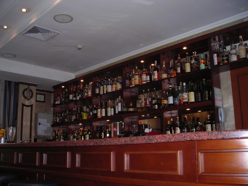 Whiskey bar at the hotel.