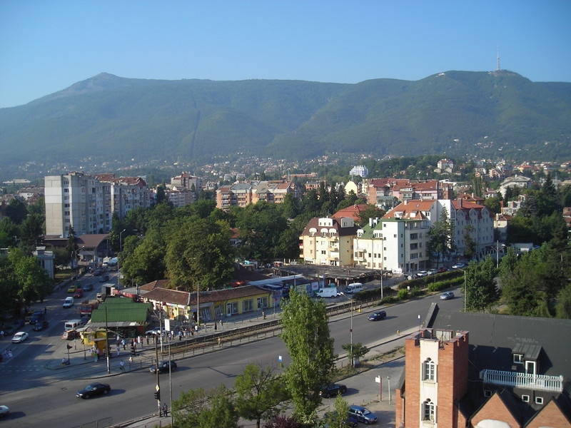 View of Mt Vitosha from the SAP Office.