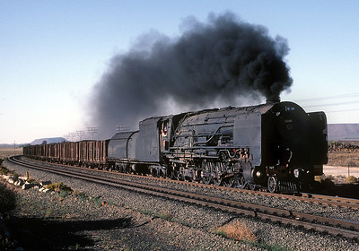 In 1983 the mainline between DeAar and Kimberly was still a raceway for steam.  October 1983.