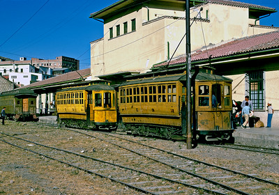 July 1976.  FCG station in La Paz.  The FCG climbed out of La Paz on a steeply graded electric line, and then was steam or diesel powered to the port of Guaqui on Lake Titicaca.