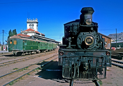 July 1976.  La Paz station of the National Railways.  The electrified FCG had a seperate station.