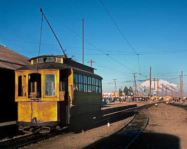 July 1976.  Viacha, Bolivia.  This was the end of the FCG electrification, and here it connected with the National Railway and had its own steam/diesel line to Guaqui.