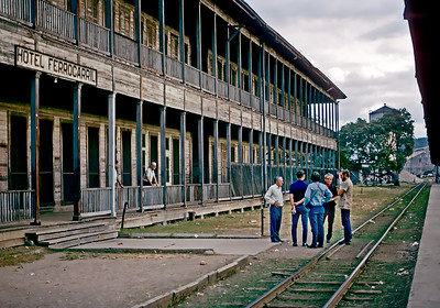 Checking into the Hotel Ferrocarril.  November 1971?