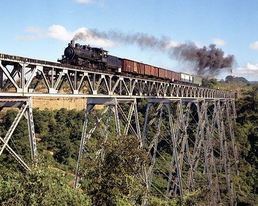 November 1971.  Puente de las Vacas approaching Guatemala City.