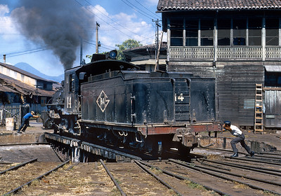 January 1968.  Turning the 14 at Sonsonate.