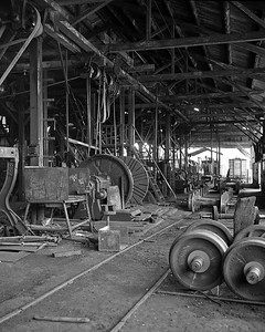 The FES was headquartered at Sonsonnate, and the machinery in their backshop was still operated by belts and overhead pulleys.