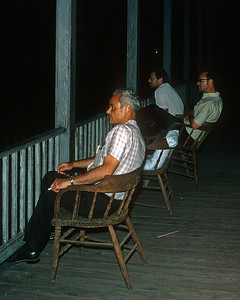 November 1970.  Watching the yard action from the upstairs veranda of the Hotel Ferrocarril in Zacapa.  Bryan Whipple, Geoge Werner, and John Schwarz.