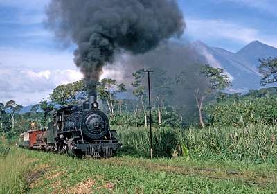 November 1971.  The CART special climbs the 3.7 percent Palin Hill between Escuintla and Guatemala City.