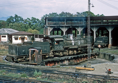 March 1971.  A Krupp takes a spin on the turntable at Escuintla.