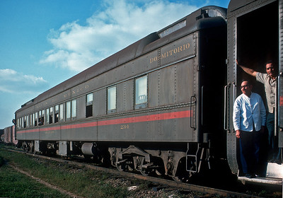 February 1975.  Pullman from Mexico City to Tapachula via Vera Cruz.  Looks like the air conditioning failed since the windows are open.  This is how you got by rail to the Guatemalan border to connect with the narrow gauge IRCA later FEGUA in Guatemala.