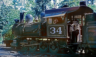 No. 34 was the regularly assigned yard engine at Tecun Uman and the last outside frame engine in service on FEGUA.  It was later fixed up cosmetically and moved to the FEGUA museum in Guatemala City.
