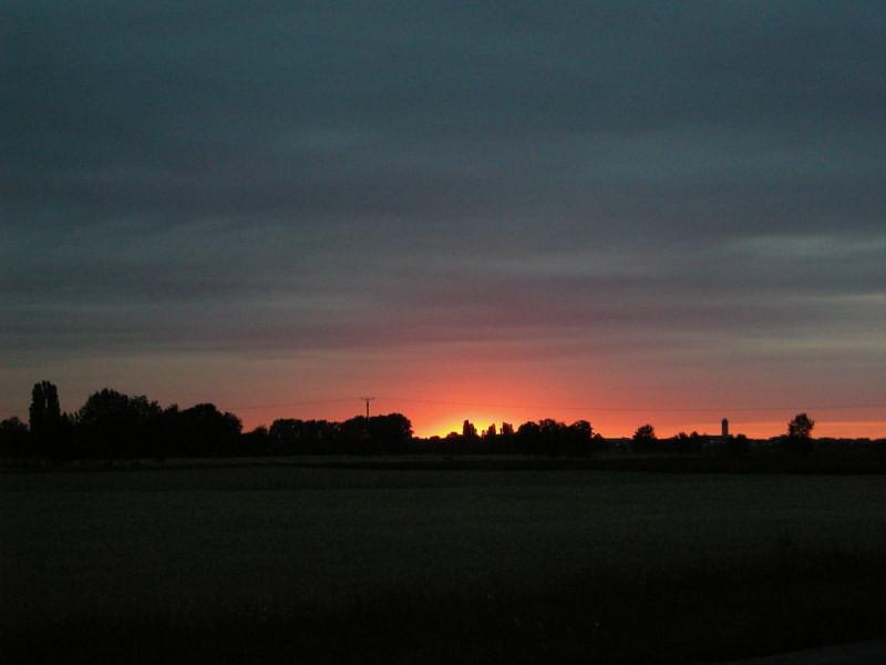 Sunset in Reilingen
