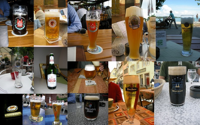 Tried to take a picture of every beer I had during the week - got most of them :)