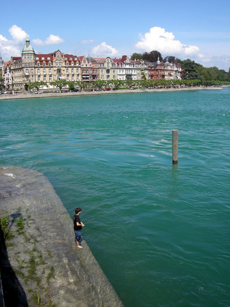 Where the Rhine enters the Bodensee