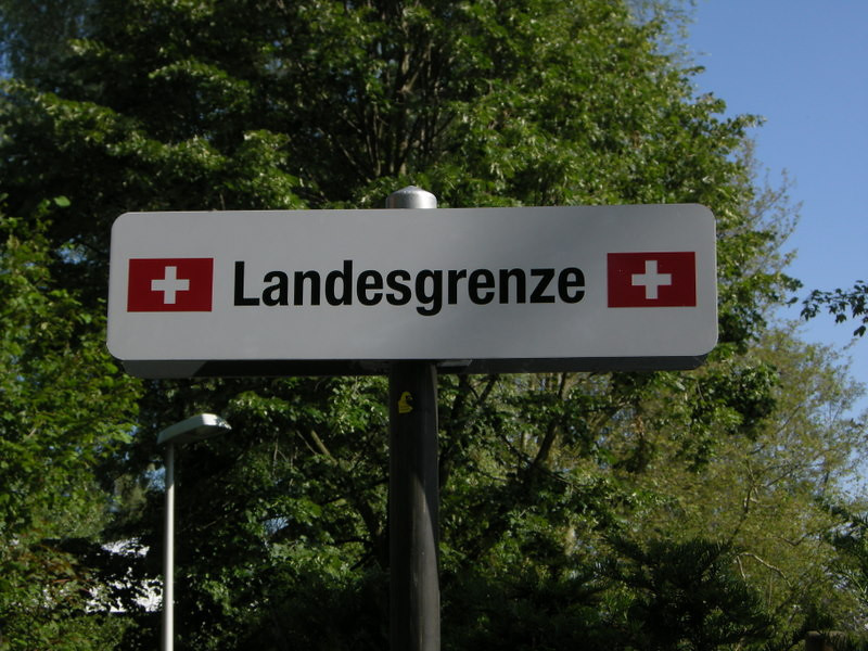Walked into switzerland - here is the border sign to prove it.