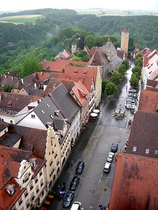 View of the streets of Rothenburg