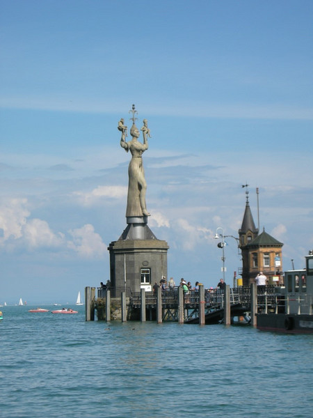 Imperia, a statue commemorating the Council of Constance (statue: 1993. Council: 1414)