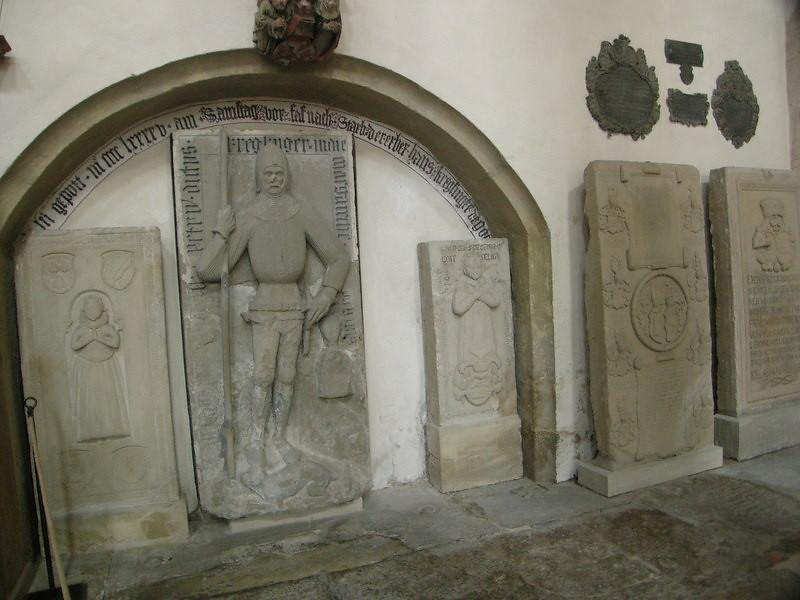 Inside the smaller church.