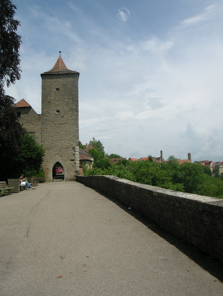 Along the city wall