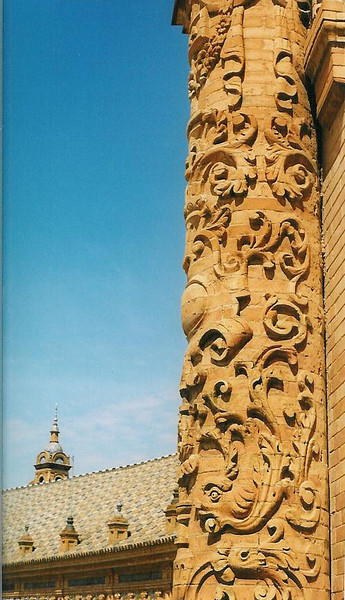 Plaza De Espania column detail--Seville