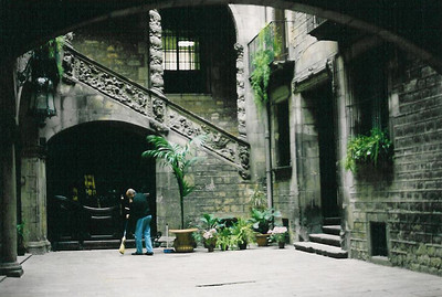 Interior Courtyard--Barcelona