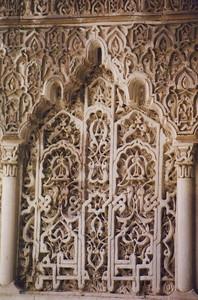 Alcazar wall detail (B)--Seville