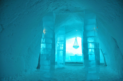 Entrance Hall, Ice Hotel, JUKKASJÄRVI, Sweden