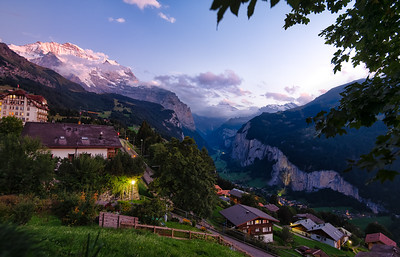 Lauterbrunnen Valley at Dusk