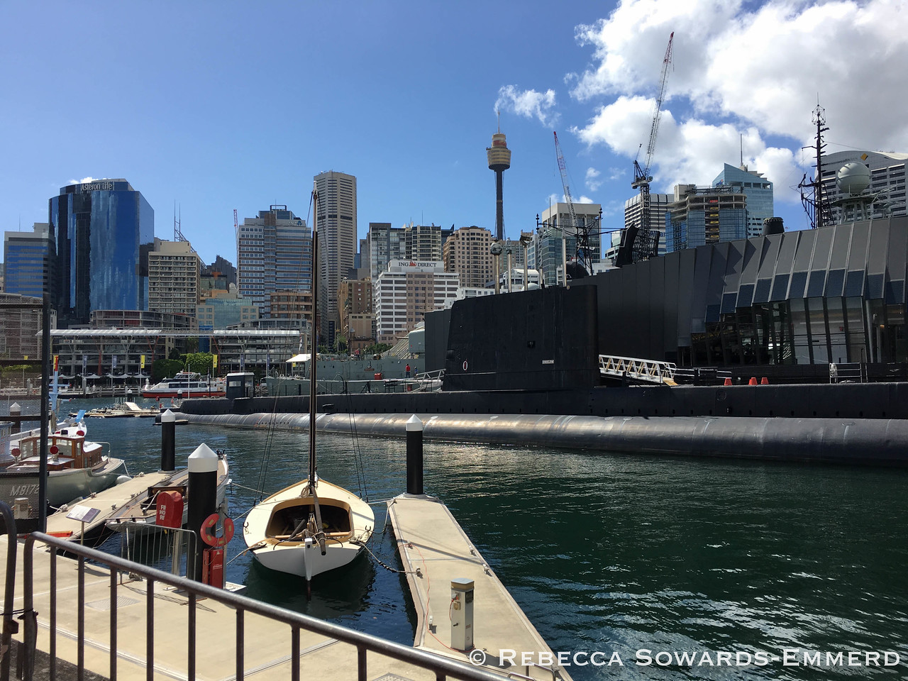 Walking around the harbour and looking back at the city