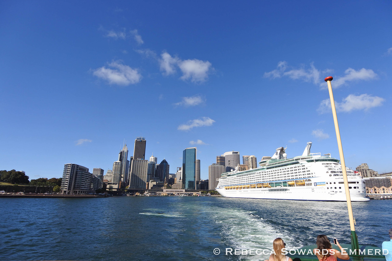 Heading out of Circular Quay - this is the third cruise ship I've seen this week.