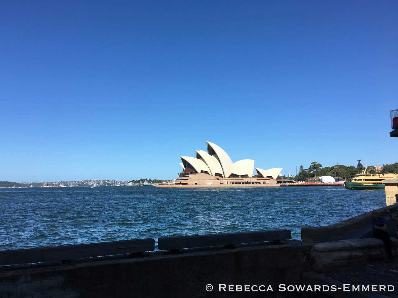 And eventually caught sight of the iconic opera house