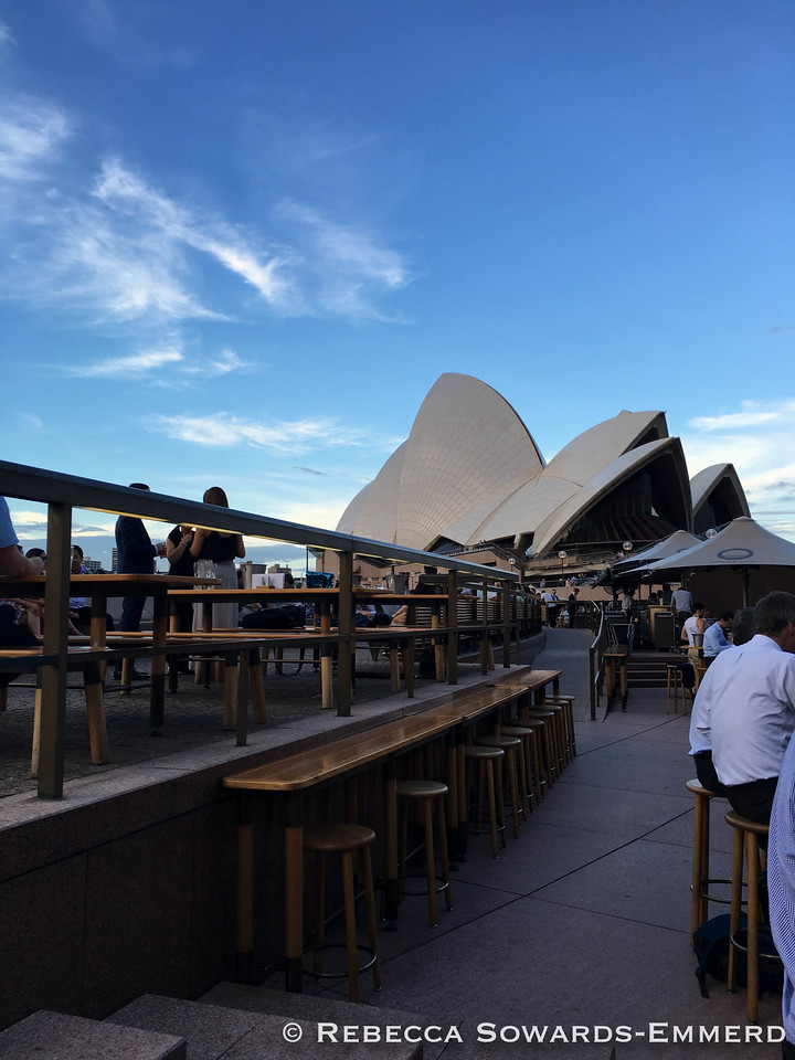 During the week I had to work, but my colleagues still took me to some great places like the Sydney Opera Bar