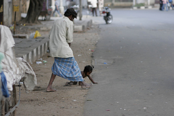 Father to the rescue.  The street is their home.