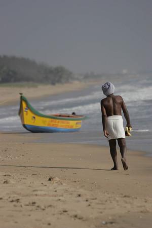 Fisherman going to work