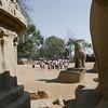 School childred at Five Rathas, Mahabalipuram