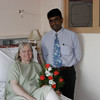 Carol recovering at Apollo Hospital with Dr. Bose