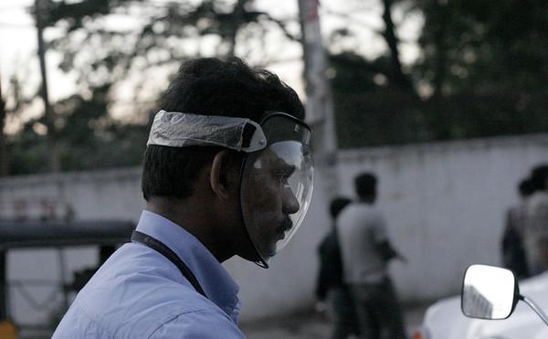 Eye protection, but no cranial protection