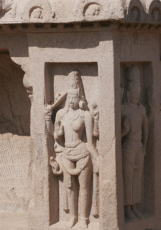 Detail on the outside of Draupadi's Ratha