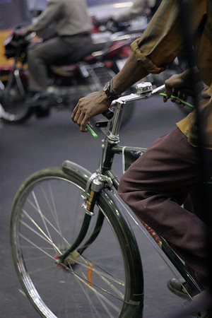 After dark city cyclist