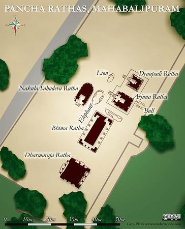 PanchaRathas site plan