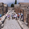 Walking the ruins of Pompeii.