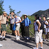 Students disembark from a bus ride half way up Mt. Vesuvius for a 30 minute long teaching walk.