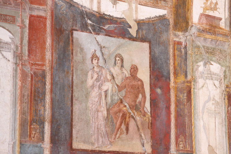 Frescos in the ruins of Herculaneum.