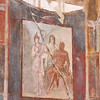 Frescos in the ruins of Herculaneum.