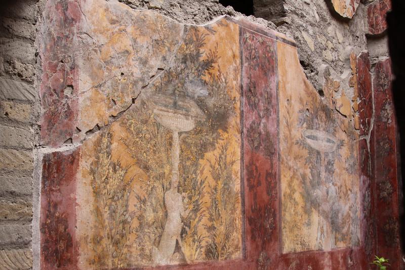 Frescos in the ruins of Oplontis.