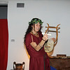 Students were treated to the sounds of Roman instruments during dinner theater.