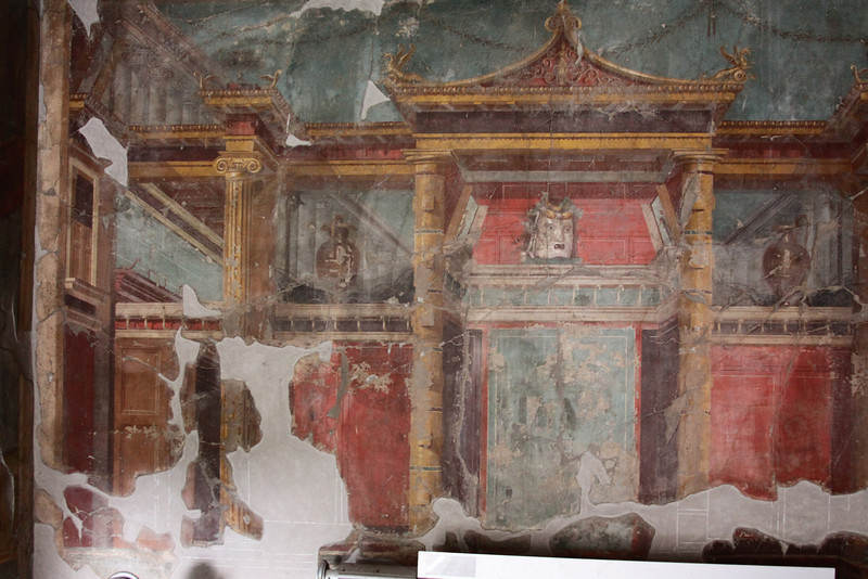 Frescos in the ruins of Oplontis.
