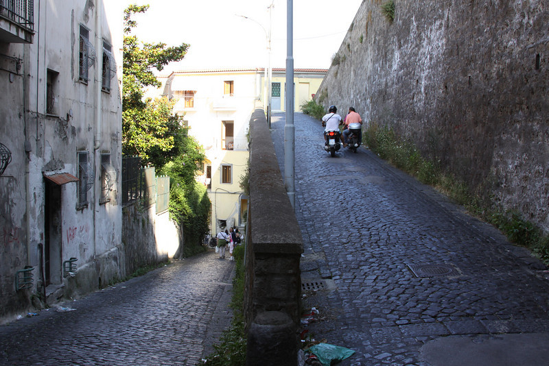 The Vesuvian Institute was sighted high above the Bay of Naples.  The walk consisted of many switchbacks built from local resources.