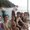 Returning from snorkeling east end of St. John; pictured: Ilona Rabinovitch, Kaitlin Capdevielle, Tiffany Pham, Chris Ferro, Annam Hussaini, Vinnie Frangipane, and Maria Simonova.   [Photo credit Deanna Frascona]