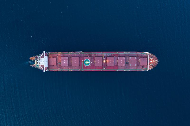 The bulk carrier 'Omaha' aerial